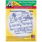 Hummingbirds & Flowers Hot Iron Transfers
